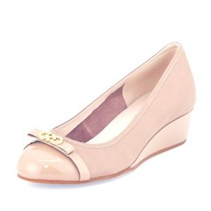 Cole Haan cap toe Wedge heel pumps